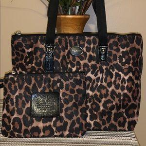 Coach Park Ocelot Leopard Print small tote & pouch